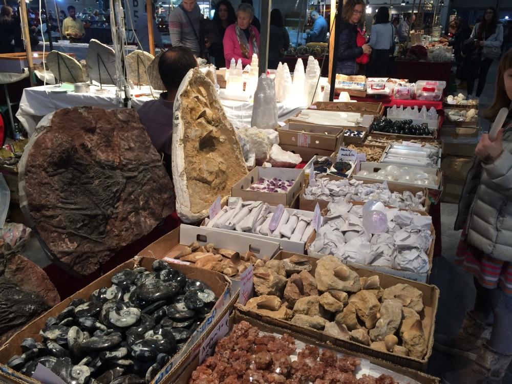 minerals at Verona Mineral Show